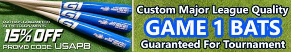 USA PREMIER BASEBALL'S BAT OF CHOICE - Custom Major League Quality & GUARANTEED FOR THE TOURNAMENT
