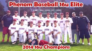 Phenom Baseball 16u Elite 2014 Christmas Classic Champions