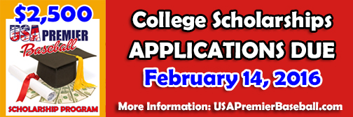 3 500 In College Scholarships Available Usa Premier Baseball
