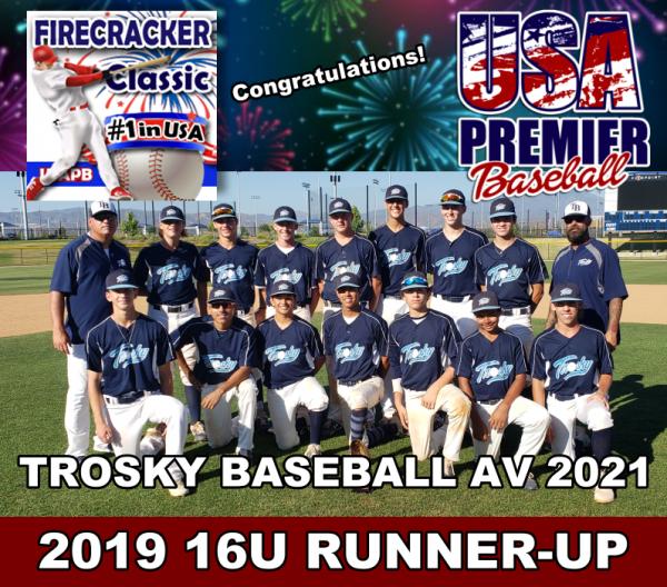 16u 2019 #1Firecracker RunnerUp-Trosky Baseball AV 2021